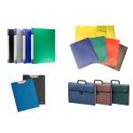 Папки пластиковые, портфели, клипборды
