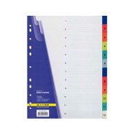 """Разделитель пластиковый """"ВuroМax"""" 3212  (1-12) разделов,цветной"""