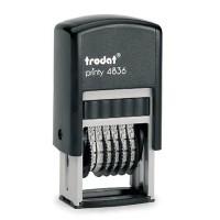 """Нумератор мини """"Trodat""""4836, 6 разрядный,  пластиковый, 3,8мм"""
