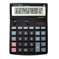 """Калькулятор """"Daymоn"""" DС-444, 12 разрядный, 200x150, черный"""