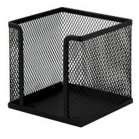 """Бокс для бумаги """"BuroMax"""" 6215-01 металлическая сетка, черный"""