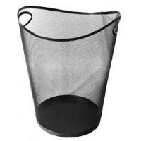 Корзина для бумаг метал., Optima 36331-01, черн. фигурн