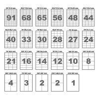 Самоклеющаяся бумага А4 8 ячеек 105х74 (100л)