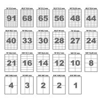 Самоклеющаяся бумага А4 16 ячеек 105х37 (100л)