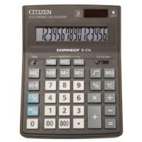 """Калькулятор """"Citizen"""" Correct D-316 16 разрядный бухгалтерский 155х205"""
