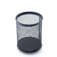 """Стакан для ручек металлическая сетка """"Axent"""" 2110-01 черный, круглый"""