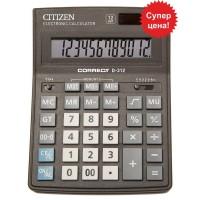 """Калькулятор """"Citizen"""" Correct D-312  12разрядный бухгалтерский 155х205"""