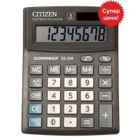 """Калькулятор """"Citizen""""Correct SD-208, 8 разрядный бухгалтерский,103х138"""