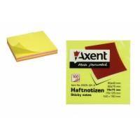 """Липкий блок """"Axent"""" 2325-02, 75х75, 100л.  неоновый MIX"""