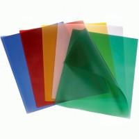 Обложка для биндера  пластиковая А4 180мкр., цветная 1уп/100шт