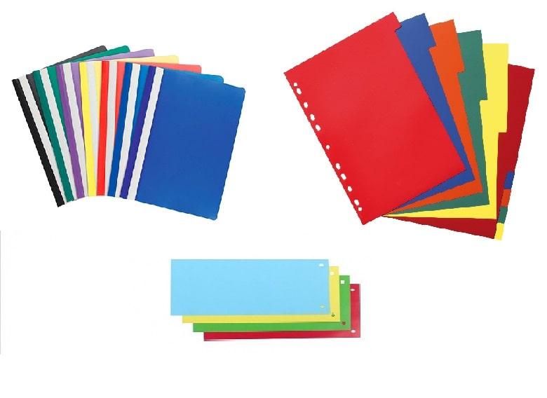 Скоросшиватели пластиковые, разделители (19)